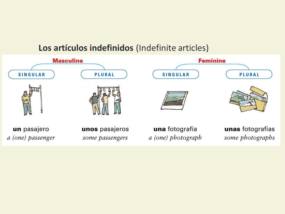 Los artículos indefinidos (Indefinite articles)