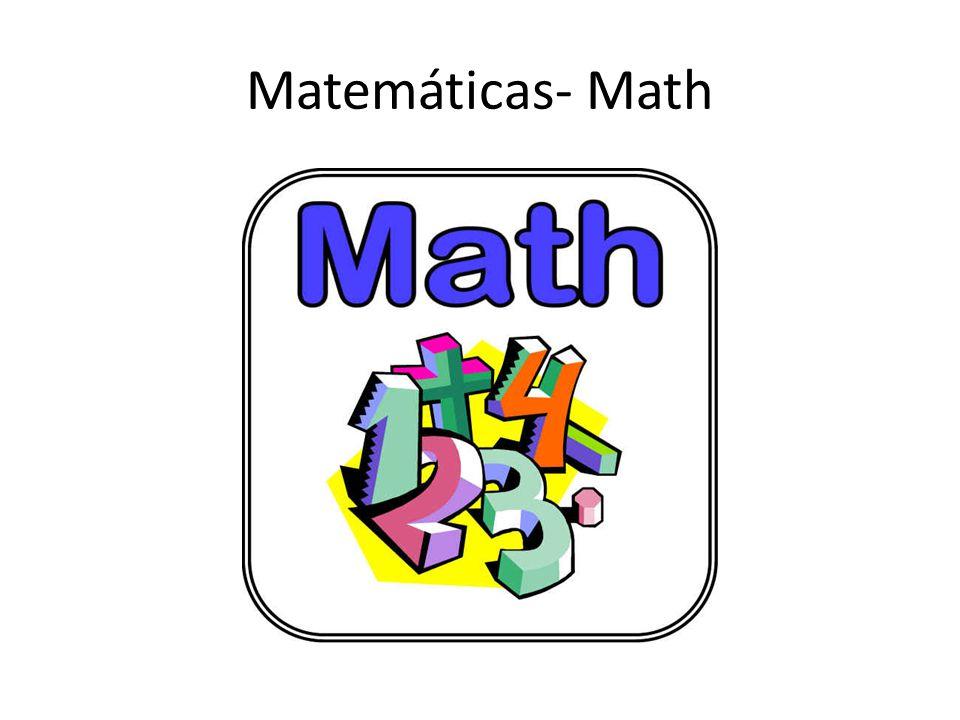 Matemáticas- Math