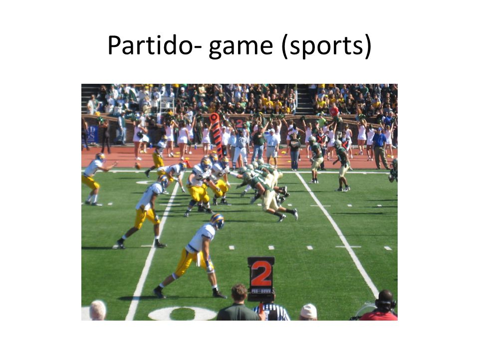 Partido- game (sports)