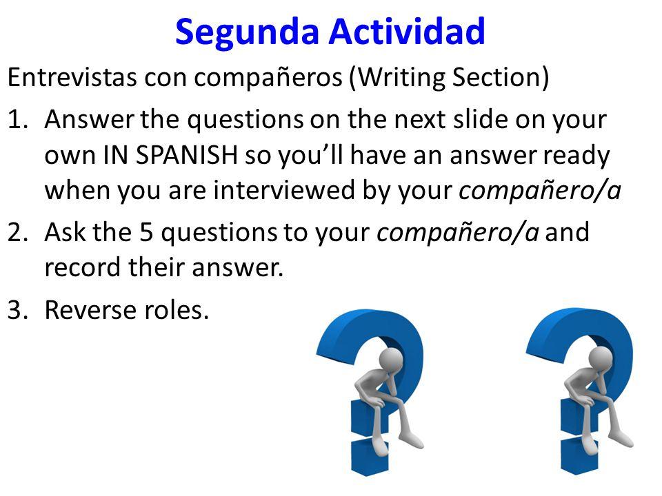 Segunda Actividad - Preguntas 1.What is your favorite movie.