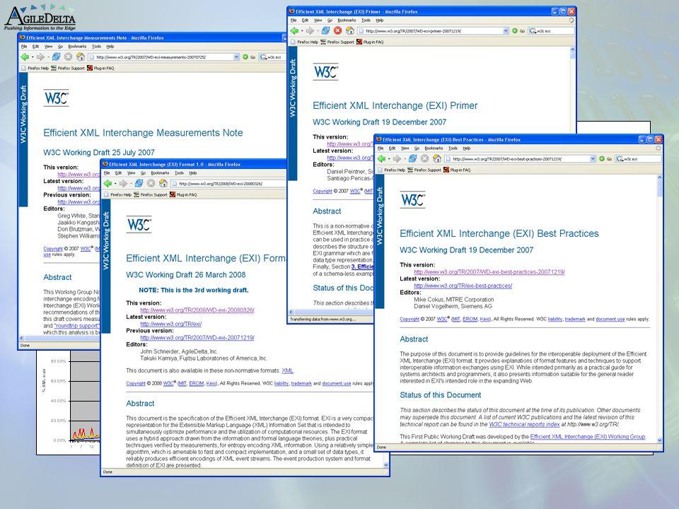 W3C EXI Benchmarks