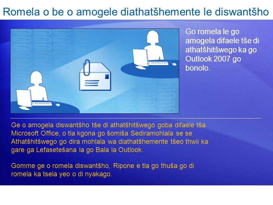 Go romela le go amogela difaele tše di athatšhitšwego ka go Outlook 2007 go bonolo.