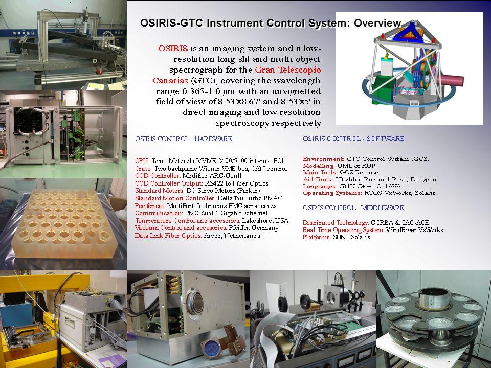 Área de Instrumentación PONENTE Instituto de Astrofísica de Canarias 2 OSIRIS-GTC Instrument Control System: Overview