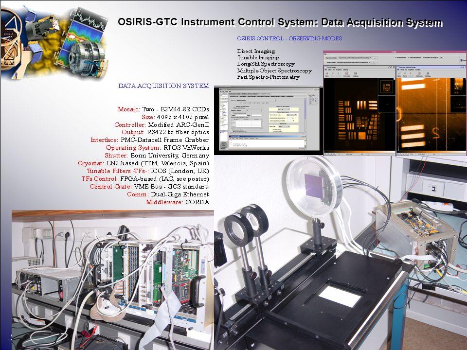 Área de Instrumentación PONENTE Instituto de Astrofísica de Canarias 3 OSIRIS-GTC Instrument Control System: Data Acquisition System