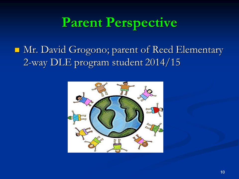 Parent Perspective Mr.