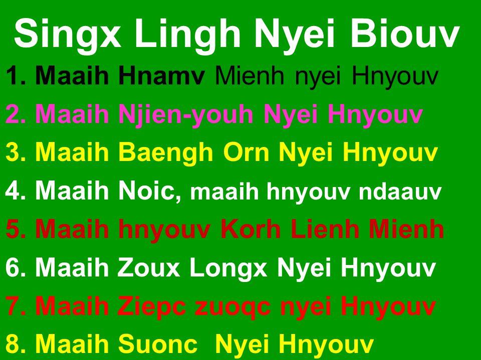 Singx Lingh Nyei Biouv 1. Maaih Hnamv Mienh nyei Hnyouv 2.