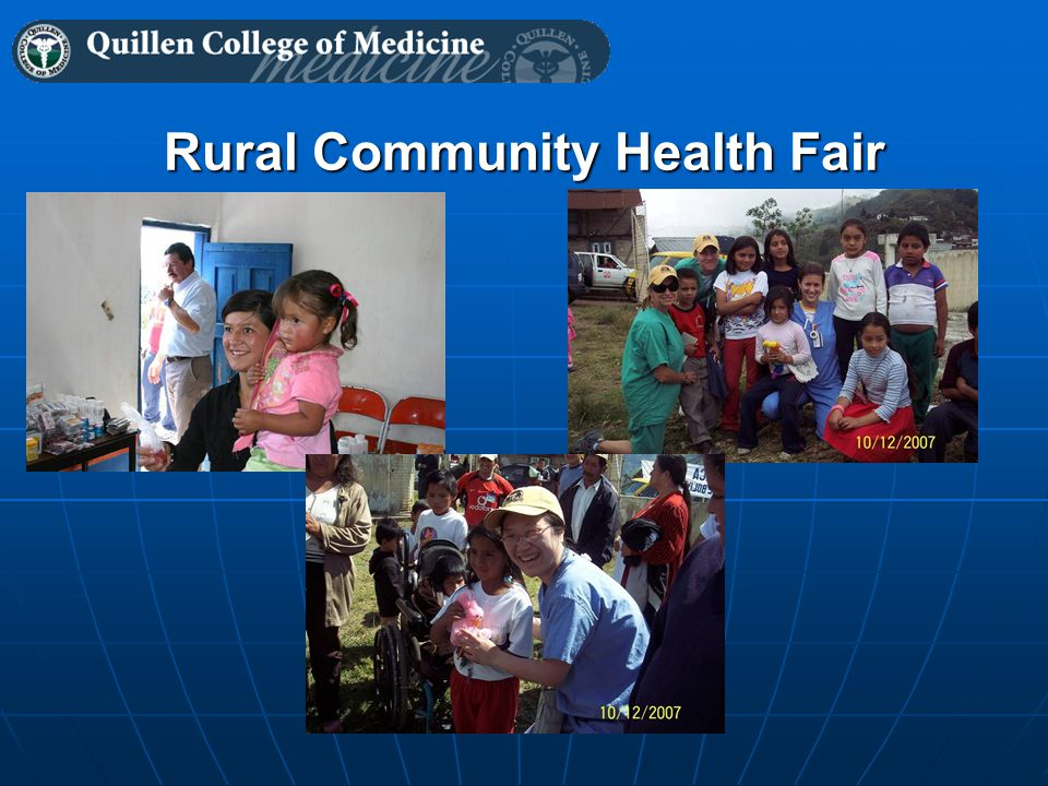 Rural Community Health Fair