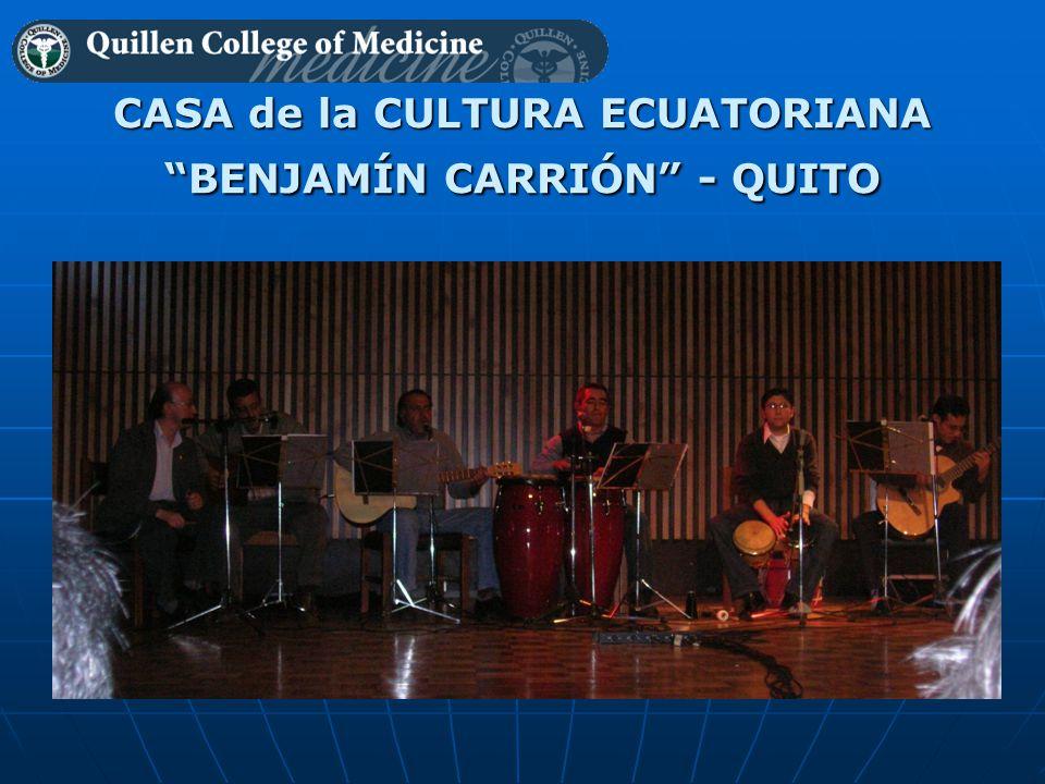CASA de la CULTURA ECUATORIANA BENJAMÍN CARRIÓN - QUITO