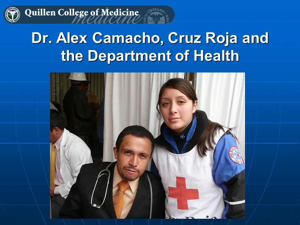 Dr. Alex Camacho, Cruz Roja and the Department of Health