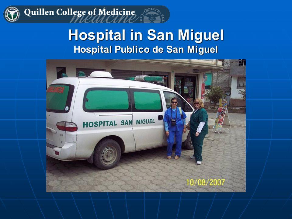 Hospital in San Miguel Hospital Publico de San Miguel