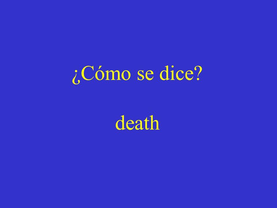 ¿Cómo se dice? death