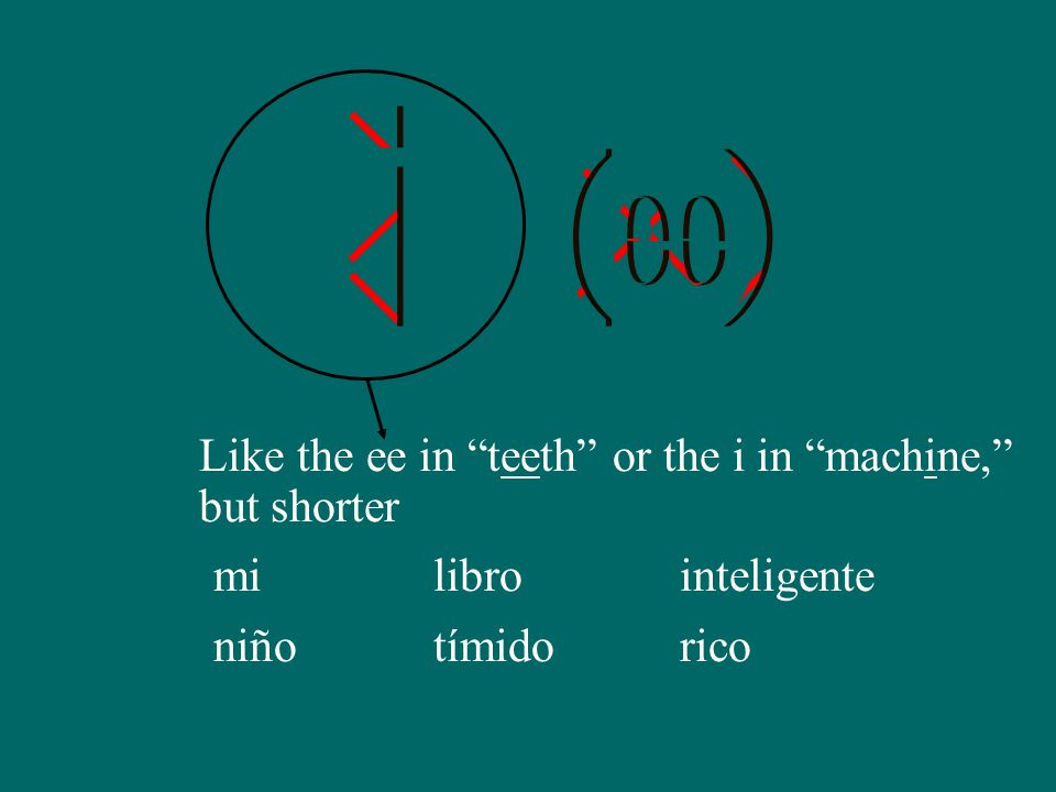 Like the ee in teeth or the i in machine, but shorter mi niño libro tímido inteligente rico