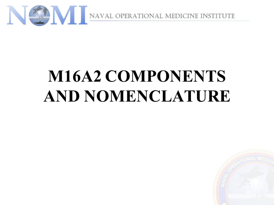 M16A2 COMPONENTS AND NOMENCLATURE