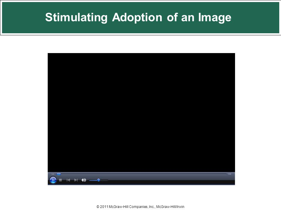 Stimulating Adoption of an Image © 2011 McGraw-Hill Companies, Inc., McGraw-Hill/Irwin