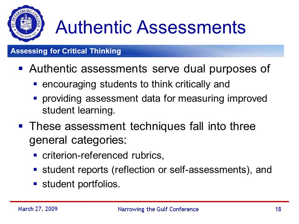 critical thinking assessment tool Searchable website of assessment tools science learning and child outcomes in out-of-school programs.