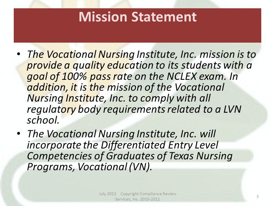 nursing mission statement