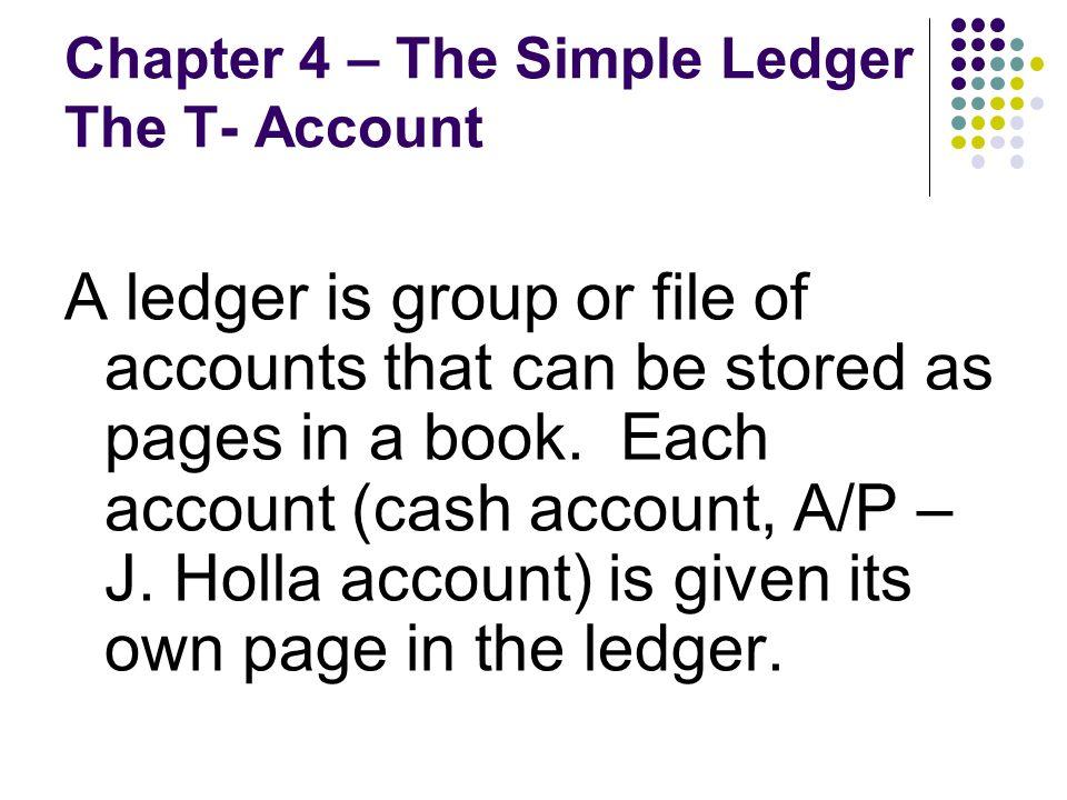 simple ledger