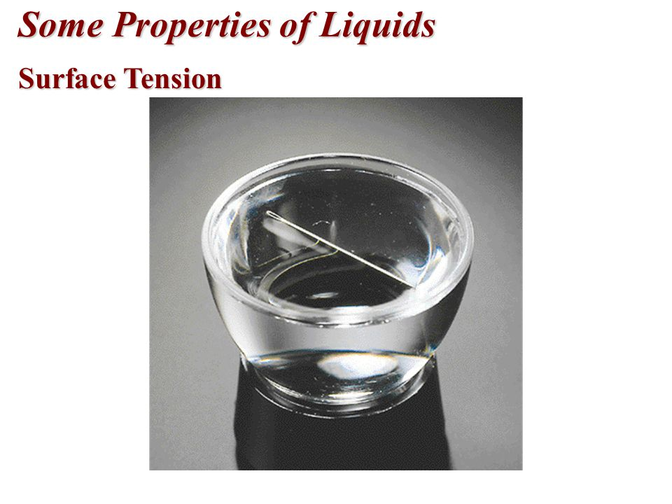Some Properties of Liquids Surface Tension