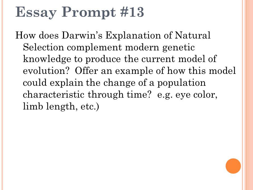 darwinism essay topics