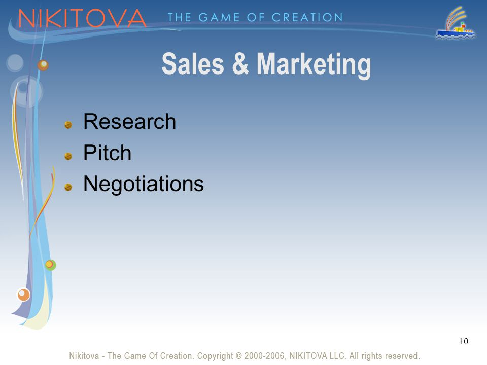 10 Sales & Marketing Research Pitch Negotiations
