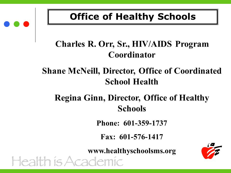 Office of Healthy Schools Charles R.