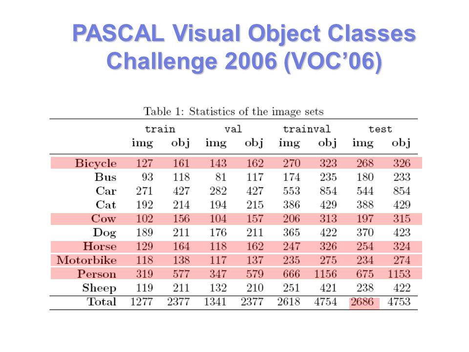 PASCAL Visual Object Classes Challenge 2006 (VOC'06)