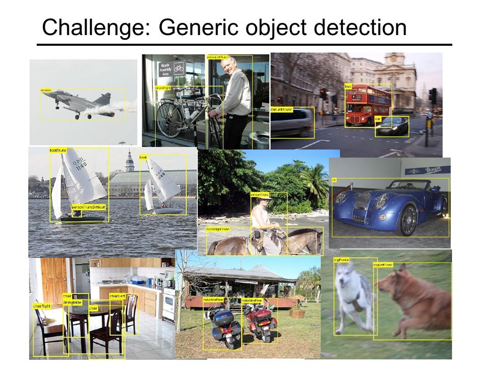 Challenge: Generic object detection