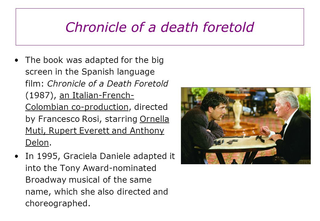 chronicle of a death foretold critical essays Essays and criticism on gabriel garcía márquez's chronicle of a death foretold - critical essays.