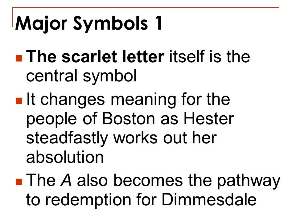 major themes and symbols in the scarlet letter