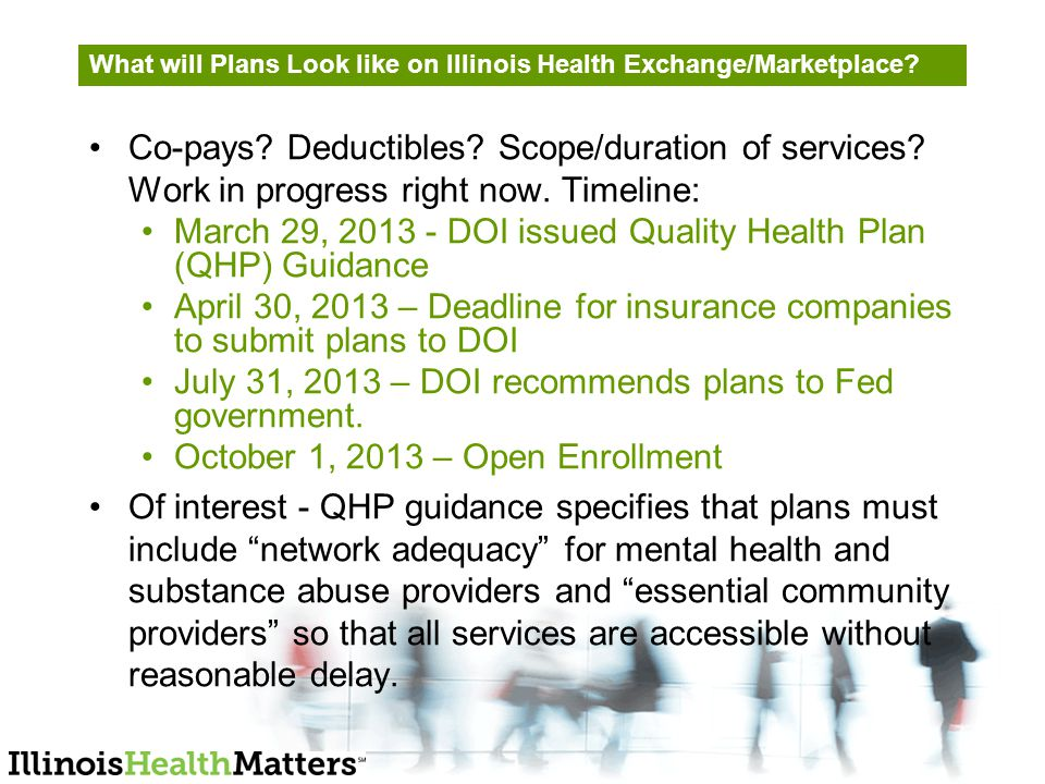 What will Plans Look like on Illinois Health Exchange/Marketplace.