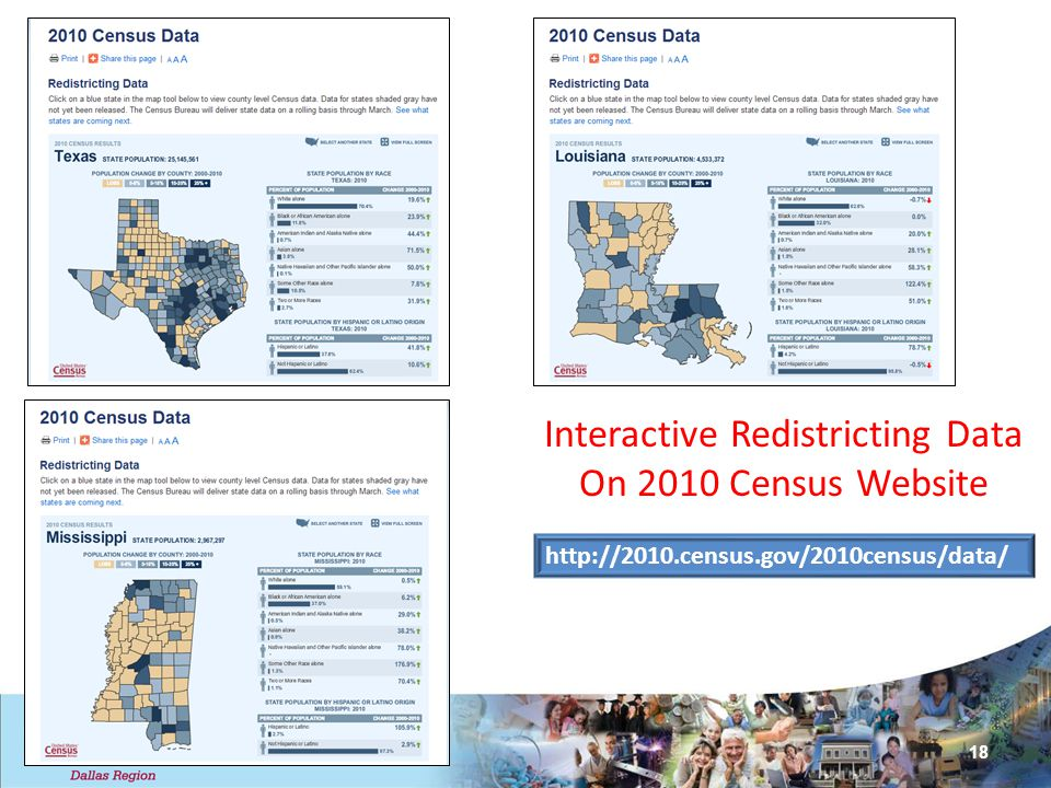 Interactive Redistricting Data On 2010 Census Website 18