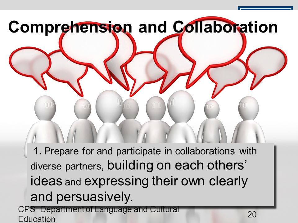 Comprehension and Collaboration 1.