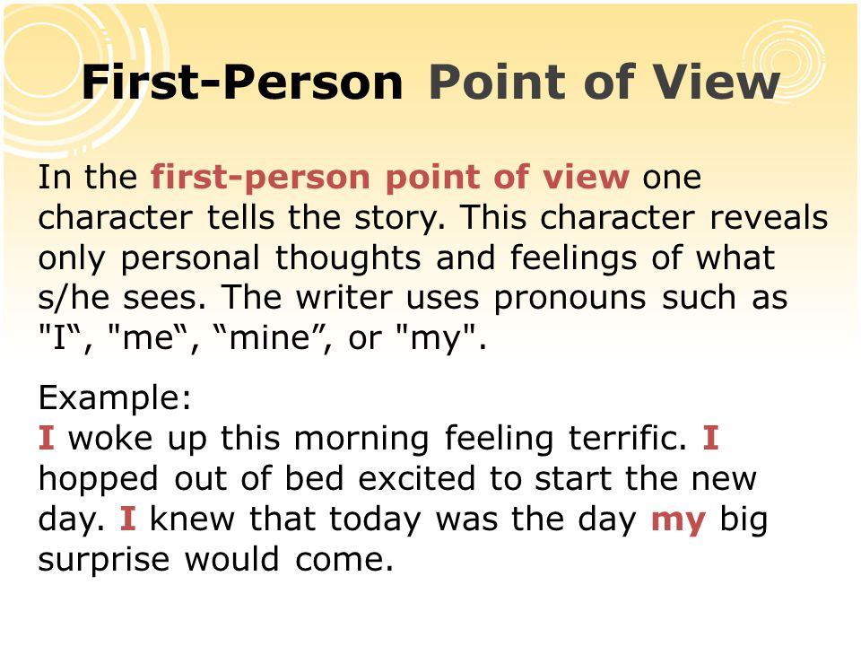 first person point of view essays