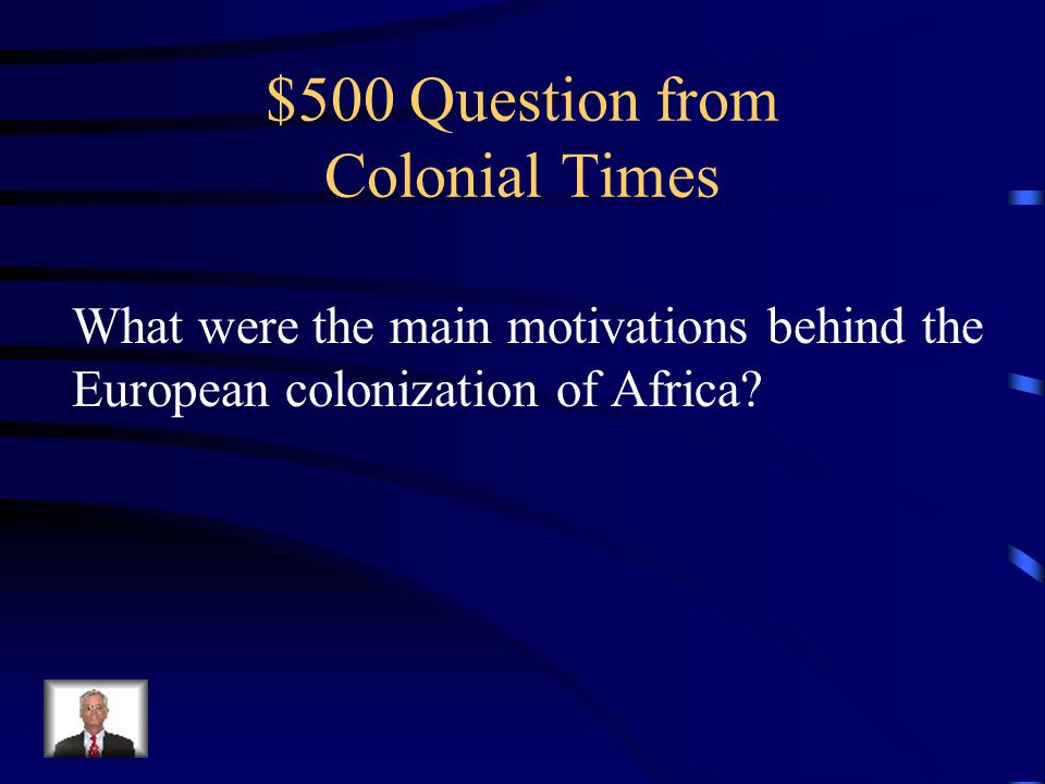 $400 Answer The White Man's Burden