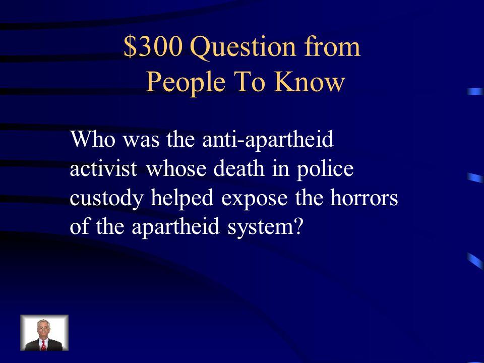 $200 Answer King Leopold II