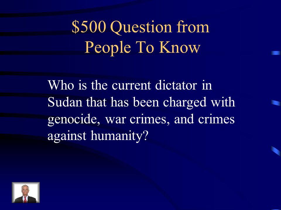 $400 Answer Jomo Kenyatta
