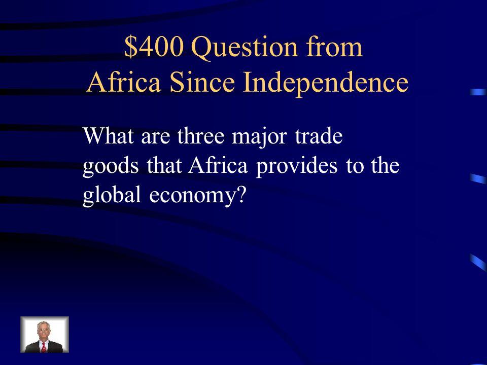 $300 Answer Darfur