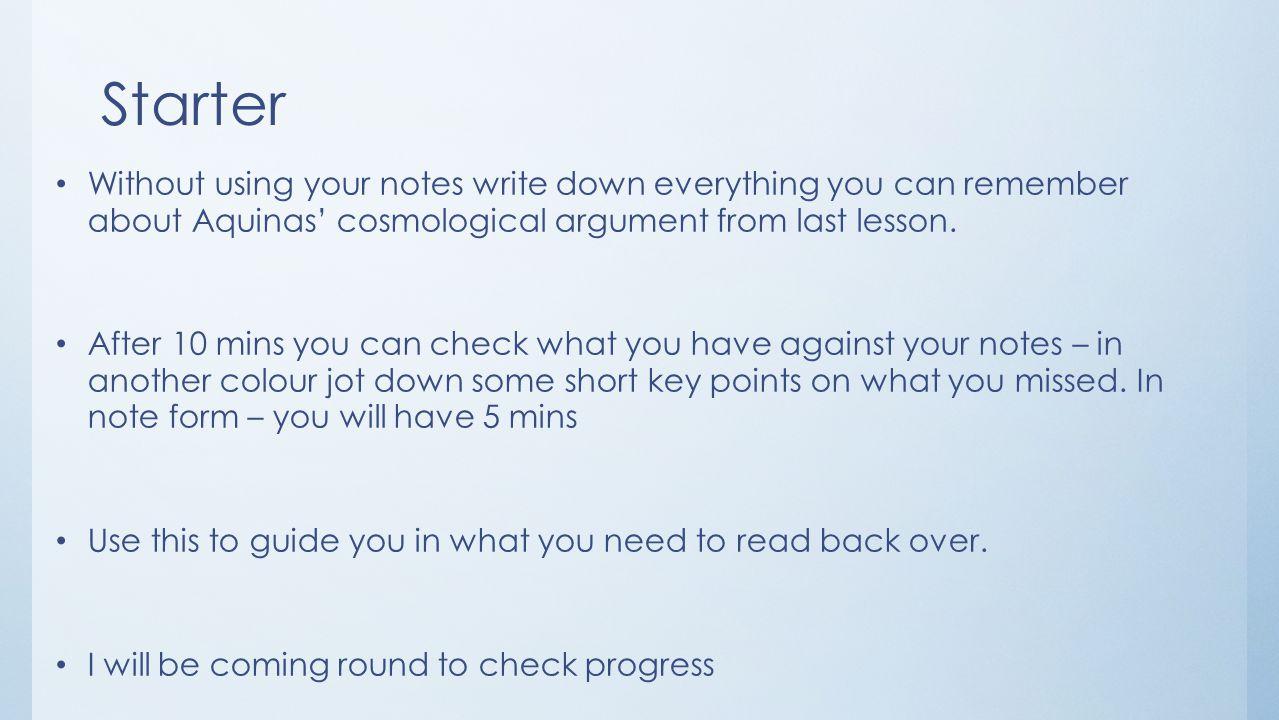 notes over aquinas