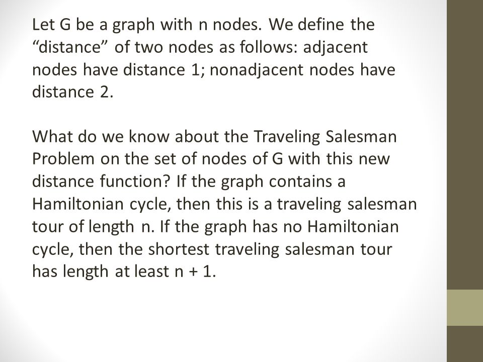 Let G be a graph with n nodes.