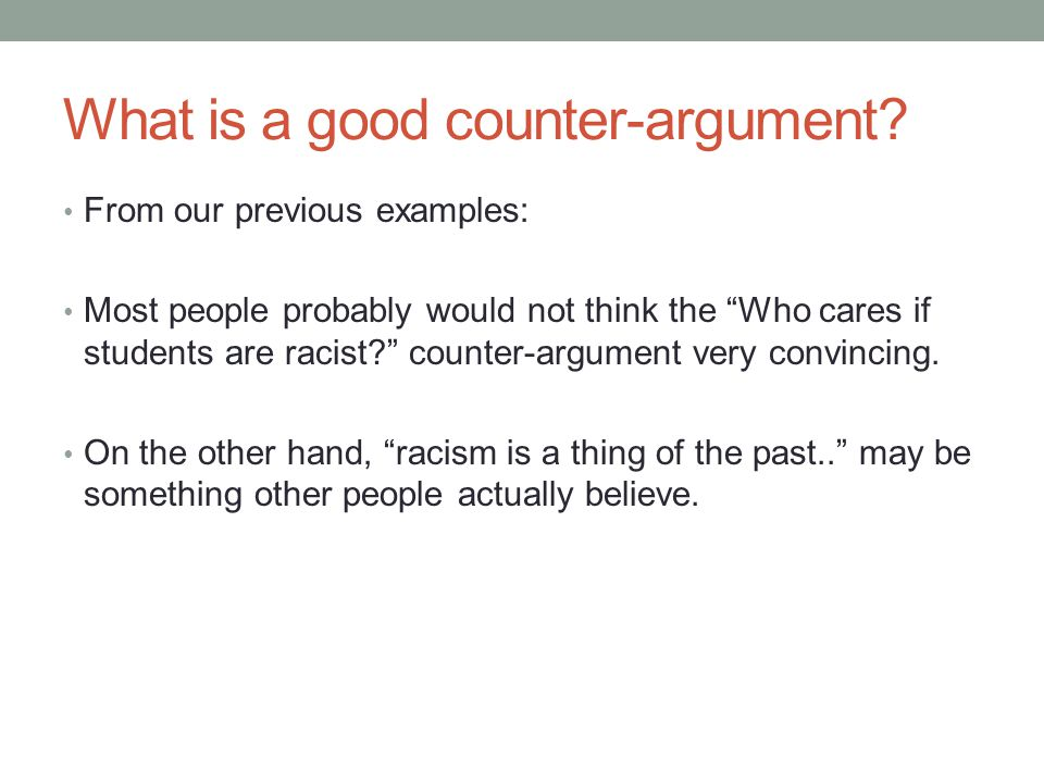Counter Argument Example Sample Counter Argument Doents In Pdf Word