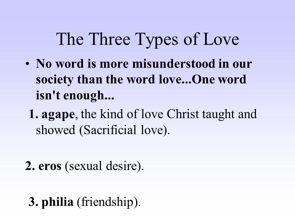 Three kinds of love eros
