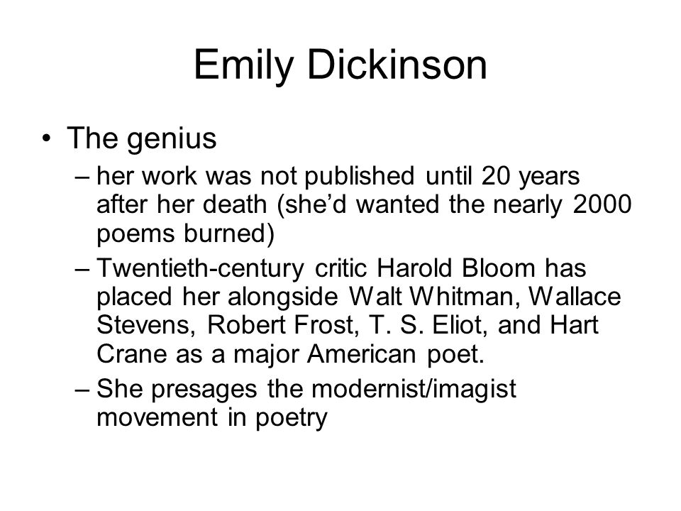 essay on walt whitman and emily dickinson Emily dickinson and walt whitman were two great authors of the late 19th century there are some differences in their writing styles of walt whitman and emily dickinson one of the things i did notice in there poems or writings was how they structured it.