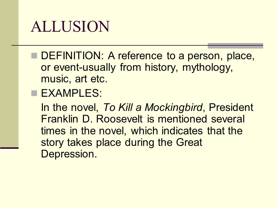 Allusion Meaning And Examples Image Collections Resume Cover