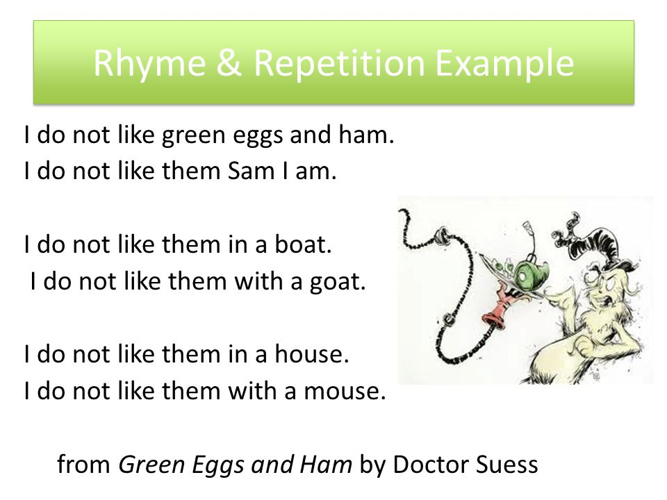 Repetition Rhyme And Rhythm Repetition Whats The Point