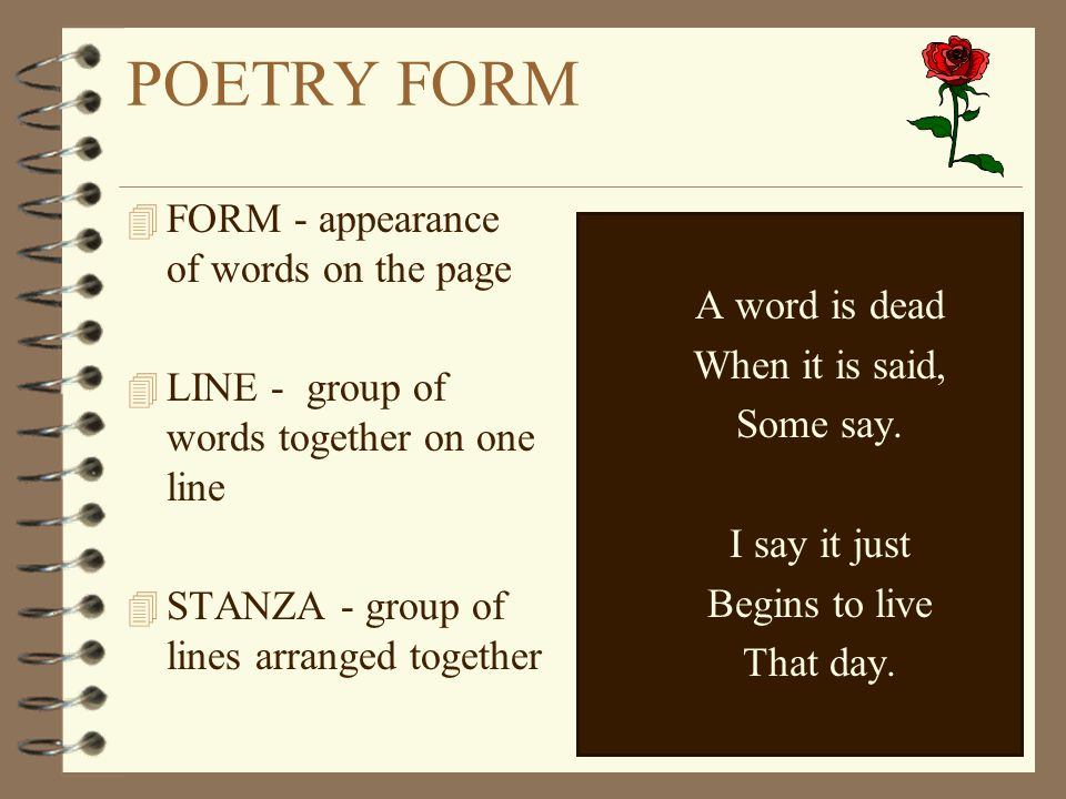 Poetry form: 3 stanzas, 6 lines each?