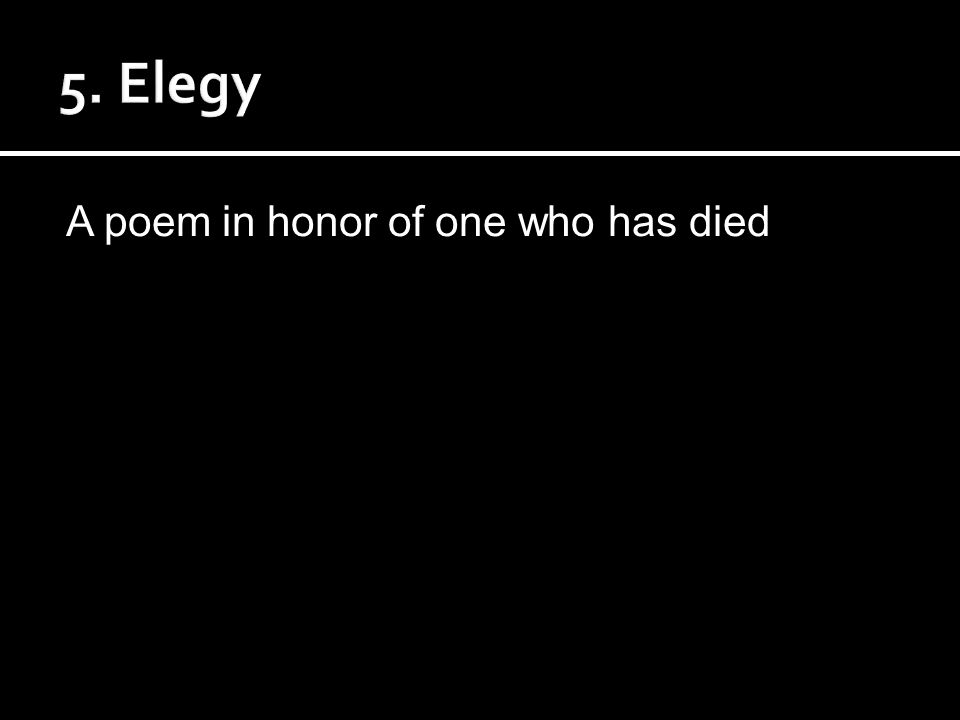 A poem in honor of one who has died