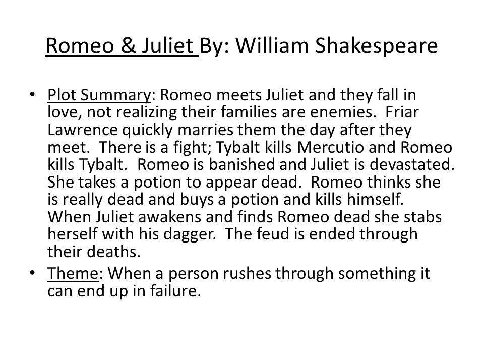 romeo and juliet deaths essay Romeo & juliet author william shakespeare was born in statford-upon-avon on april 23 1564 he went to free grammar school in stratford it was a good school where he learned even greek and latin.