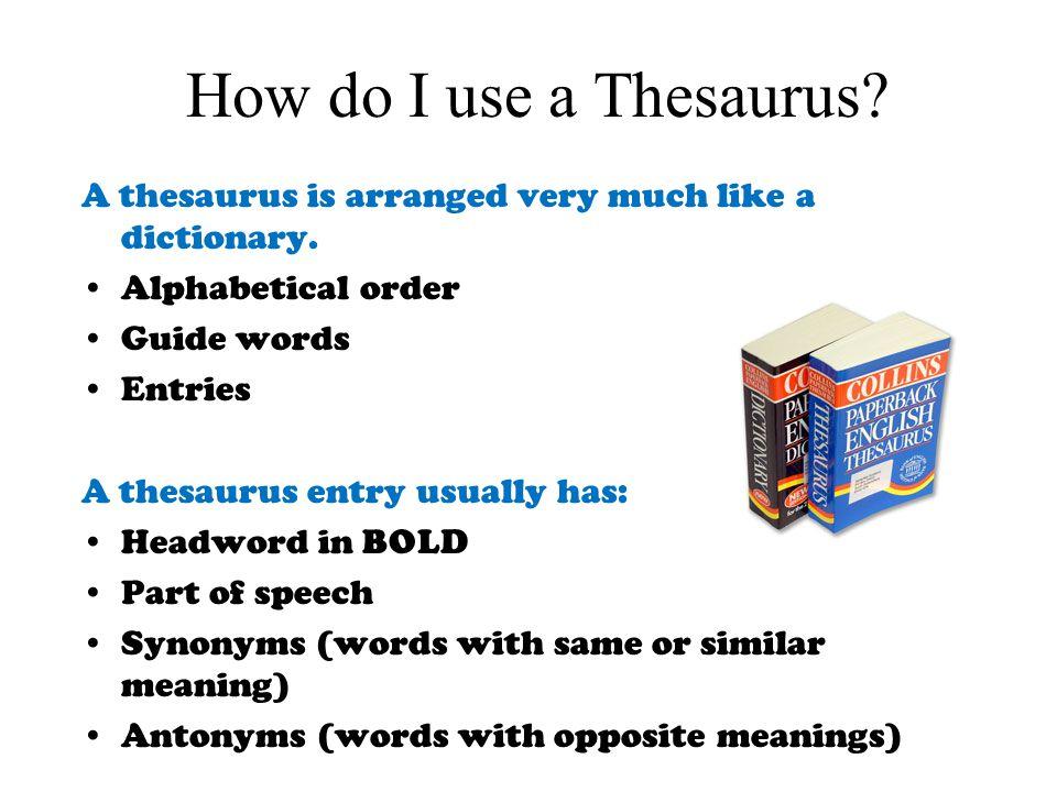 Do good writers use thesauruses?