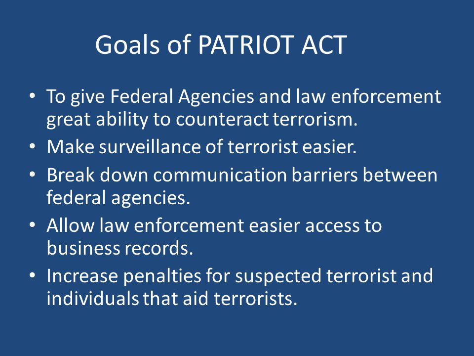 effects of patriot act