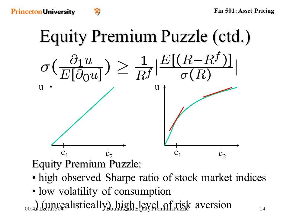 equity premium puzzle